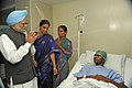 The Prime Minister, Dr. Manmohan Singh interacting with the bomb blast victims, at Omni Hospital, in Hyderabad on February 24, 2013.jpg
