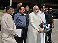 The Prime Minister, Shri Narendra Modi addressing the media outside the Parliament House alongwith his Ministerial colleagues, in New Delhi on June 04, 2014.jpg