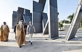 """The Prime Minister, Shri Narendra Modi paid tributes to brave soldiers of UAE who made ultimate sacrifice in the service of UAE at Wahat Al Karama """"Oasis of Dignity"""", in Abu Dhabi, United Arab Emirates on February 11, 2018 (2).jpg"""