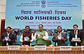 The Union Minister for Agriculture and Farmers Welfare, Shri Radha Mohan Singh releasing the CD, on the occasion of the World Fisheries Day 2016, in New Delhi.jpg