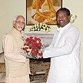 The Union Minister for Textiles, Dr. Kavuru Sambasiva Rao meeting the Vice President, Shri Mohd. Hamid Ansari, in New Delhi on July 01, 2013.jpg