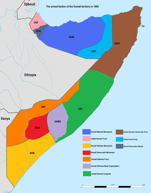 The armed faction of the Somali territory in 1992.png