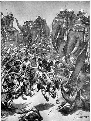Alchon Huns - The defeat of the Alchon under Mihirakula by King Yashodharman at Sondani in 528 CE.
