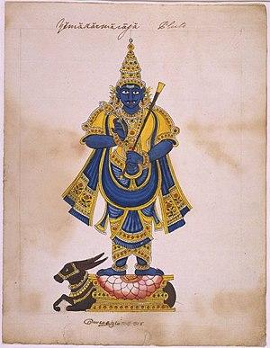 Fang - Hindu god of death Yama with fangs
