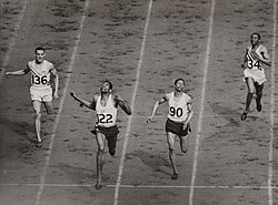 The finish of the mens 400 metres at the olympic games, london, 1948. (7649947722)
