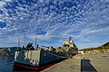 The guided missile cruiser USS Monterey (CG 61) is moored at Naval Support Activity Souda Bay, Greece, Nov. 11, 2013, during a port visit 131111-N-QL471-014.jpg