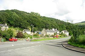 The hamlet of Glan y wern at the junction of the A496 and B4573 - geograph.org.uk - 545213.jpg
