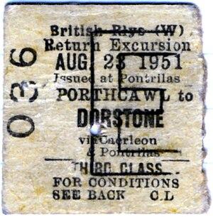Dorstone - Image: The last ticket
