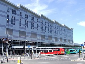 Derby bus station - The new rebuilt bus station from 2010.