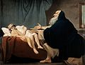 The widow's son, empty-eyed, returns to life at the prayer o Wellcome V0034443.jpg