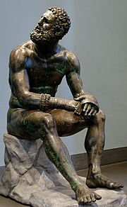 Boxer of Quirinal resting after contest (Bronze sculpture, 3rd century BC)