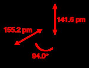 Thiazyl trifluoride - Image: Thiazyl trifluoride 2D dimensions
