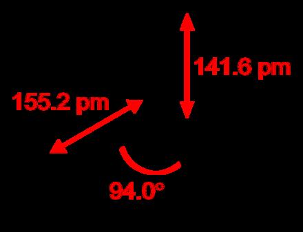 Struttura di una molecola di trifluoruro di tiazile