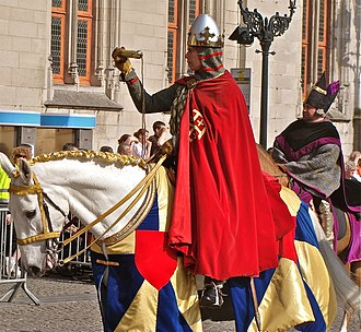 Thierry, Count of Flanders - Thierry d'Alcase brings the relic of the Holy blood into Bruges.