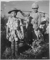 This Chinese soldier, age 10, with heavy pack, is a member of a Chinese division which is boarding planes at the... - NARA - 531234.tif
