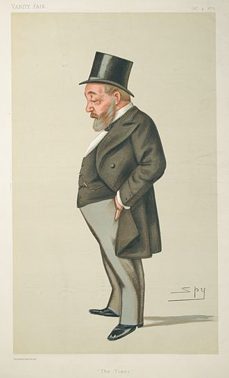 Thomas Chenery - Caricature by Spy published in Vanity Fair in 1879.