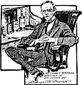 Thomas E. Mulvihill Sr. as sketched in his office by Marguerite Martyn, 1908.jpg