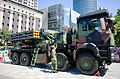 Thunderbolt 2000 Multiple Launch Rocket System Display at Sidewalk of Section 2, Xianmin Blvd 20140906a.jpg