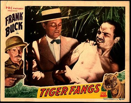Promotional photo for Tiger Fangs, showing Arno Frey (left) and Pedro Regas (right) Tiger Fangs (1943) promotional photo.jpg