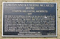 Timothy C. and Katherine McCarthy House - plaque.jpg