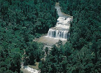 Tinuy-an Falls - Aerial view of Tinuy-an Falls showing its fall tiers or levels