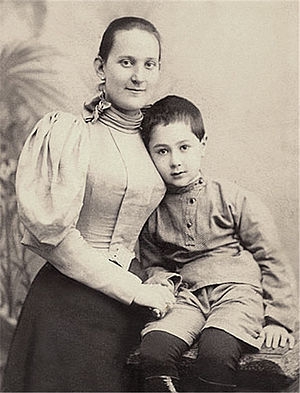 Dimitri Tiomkin - With his mother, circa 1900