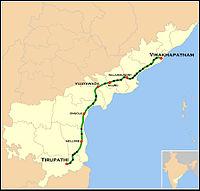 Tirumala Express Route map.jpg