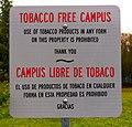 Tobacco Free Campus Sign (34226948735).jpg