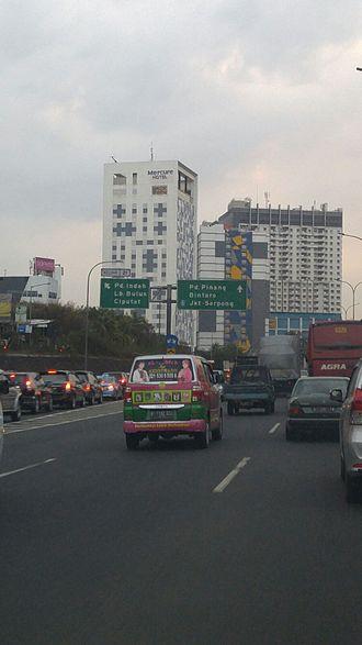 Jakarta Outer Ring Road - Jakarta Outer Ring Road in Pd. Indah.