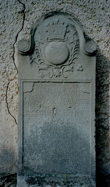 Tombe de Frédéric-Guillaume, baron de Lützow (1758-1786)
