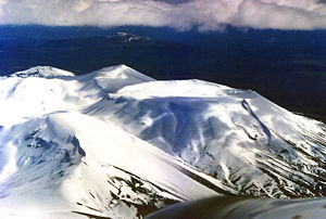 National parks of New Zealand - Mount Tongariro in winter, Tongariro National Park