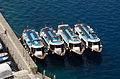 Tour boats in Mesa Gialos harbour - Fira - Santorini - Greece - 03.jpg