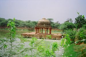Hauz-i-Shamsi - View of Pavilion in Hauz-i-Shamsi