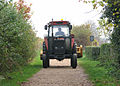 Tractor on the path to the Roman Fort - geograph.org.uk - 1577356.jpg