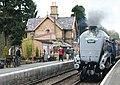 Train arriving at Hampton Loade station - geograph.org.uk - 1709490.jpg