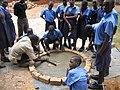 Training pupils to construct a concrete slab (5567849464).jpg