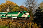 Trainspotting GO train -444 headed by MPI MP-40PH-3C -606 & banked by EMD F59PH -558 (8123583476).jpg