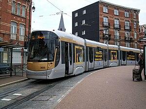Brussels tram route 55 - T3035 at Verboekhoven, 2008.