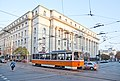 Tram in Sofia near Palace of Justice 2012 PD 024.jpg