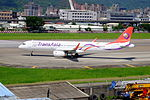 TransAsia Airways Airbus A321-231 B-22612 Departing from Taipei Songshan Airport 20150908b.jpg