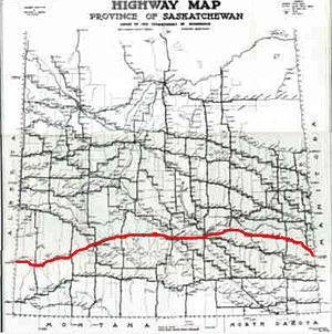 Saskatchewan Highway 1 - Image: Trans Canada Sk Map