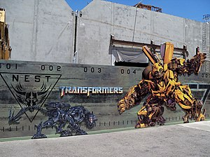 Transformers: The Ride - Construction of the ride at Universal Studios Hollywood.