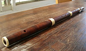 Western concert flute - A modern copy of an 18th-century French traverso, by flute-maker Boaz Berney