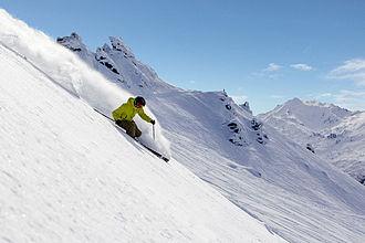 Treble Cone - Skiing Treble Cone's summit