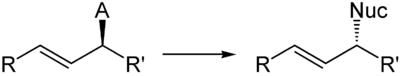 Schema der Gesamtreaktion mit Inversion am Stereozentrum