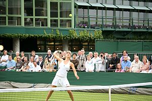 Tsvetana Pironkova -  Pironkova at the 2009 Wimbledon Championships