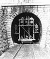 Tunnel, scaffold, railway, maintenance, tableau Fortepan 70333.jpg