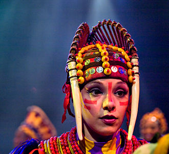 Disney's Animal Kingdom - An actress performing in the Festival of the Lion King