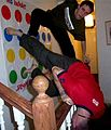 Twister two players above stairway 1.jpg