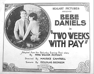 Two Weeks with Pay - Lobby card
